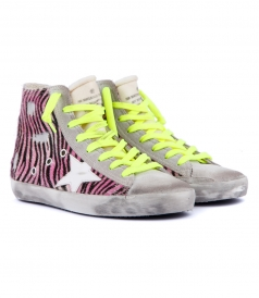 FRANCY SNEAKERS IN ZEBRA PONY HAIR PATTERN