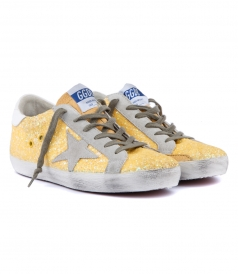SUPERSTAR SNEAKERS IN YELLOW GLITTER