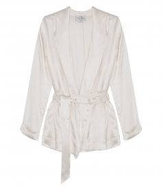 SILK BELTED ROBE CARDIGAN