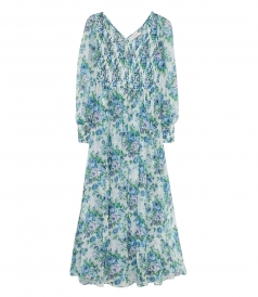 BREEZE SHIRRED MAXI DRESS