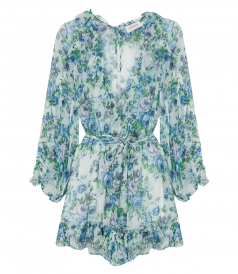 BREEZE RUFFLE FLORAL PRINT PLAYSUIT