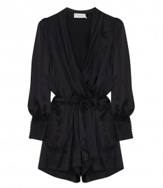 WRAP SILK ROBE PLAYSUIT