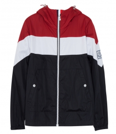 TRICOLOUR HOODED JACKET