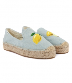 LEMON PLATFORM SMOKING SLIPPER