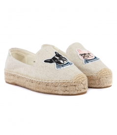 SHOES - TEDDY & GIGI PLATFORM SMOKING SLIPPER
