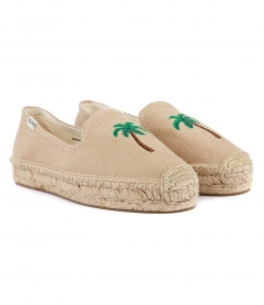 SHOES - PALM TREE PLATFORM SMOKING SLIPPER