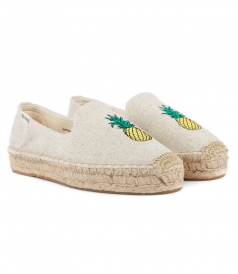 PINEAPPLE PLATFORM SMOKING SLIPPER