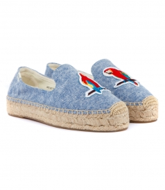 SHOES - PARROTS PLATFORM SMOKING SLIPPER