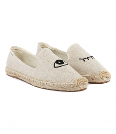 SHOES - WINK EMBROIDERY SMOKING SLIPPER