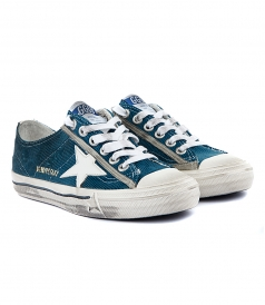 SHOES - V STAR 2 SNEAKERS IN BLUE CORDUROY