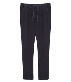 TROUSERS - TROY LINEN PANTS FT DRAWSTRING