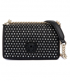 STUDDED MEDUSA SHOULDER BAG