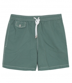 CLOTHES - BOXER SOLID POCHETTE SWIM SHORTS