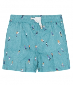 ACHILLE SKATERS PRINTED SWIMSHORT