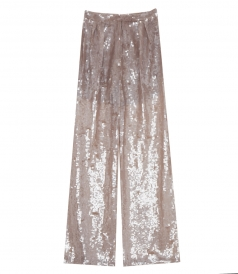 CLOTHES - WIDE LEG SEQUINED TROUSERS