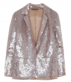 SEQUINED FITTED JACKET