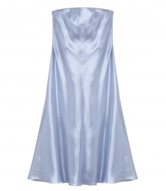 ALBERTA FERRETTI - SILK LAME STRAPLESS DRESS