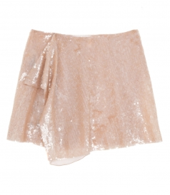 LAYERED SEQUINED RAINBOW WEEK MINI SKIRT