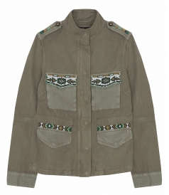 MASON'S - EVA PARKA JACKET FT ETHNIC PATCHES