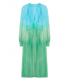 ROBE OMBRE DRESS IN HABOTAI SILK