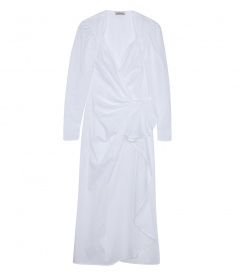 MUSLIN COTTON WRAP DRESS