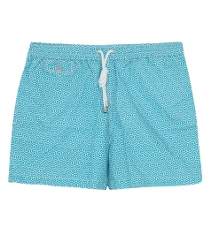 CLOTHES - GEOMETRIC SHORT LENGTH PRINTED SWIM SHORTS