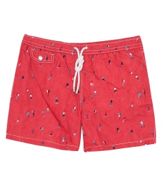 HARTFORD BEACHWEAR - SKATERS PRINTED SHORT-LENGTH SWIM SHORTS
