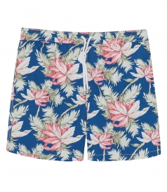 HARTFORD BEACHWEAR - ALOHA FLOWERS REGULAR SWIM SHORTS
