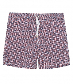 HARTFORD BEACHWEAR - GEOMETRIC SHORT-LENGTH PRINTED SWIM SHORTS