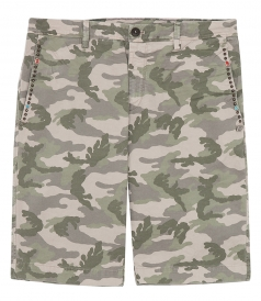 SALES - CAMOUFLAGE COTTON BLEND BERMUDAS