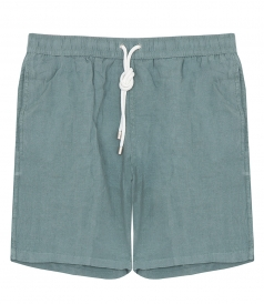 CLOTHES - LONG LINEN SWIM SHORTS