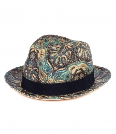 ACCESSORIES - PAISLEY PRINT FEDORA HAT
