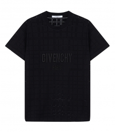 PERFORATED EMBROIDERED LOGO T SHIRT