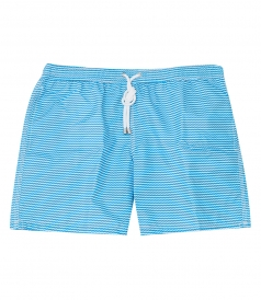 CLOTHES - WAVE PRINT REGULAR SWIM SHORTS