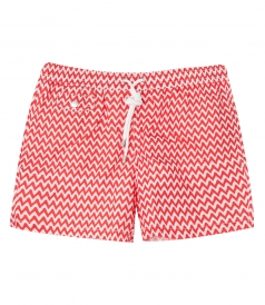 HARTFORD BEACHWEAR - GEOMETRIC PRINT REGULAR SWIM SHORTS