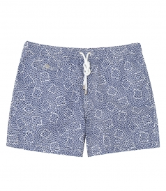 HARTFORD BEACHWEAR - PRINT SHORT LENGTH BOXER SWIM SHORTS