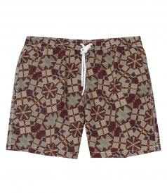 HARTFORD BEACHWEAR - AFRICAN WAX REGULAR SWIM SHORTS