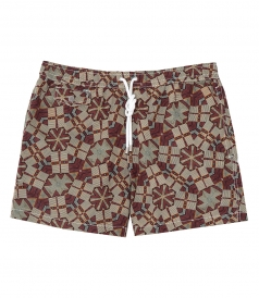 HARTFORD BEACHWEAR - AFRICAN WAX SHORT-LENGTH SWIM SHORTS