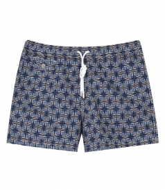 HARTFORD BEACHWEAR - AFRICAN PRINT REGULAR SWIM SHORTS