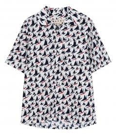 SHIRTS - BOAT PRINTED SHORT SLEEVE SHIRT
