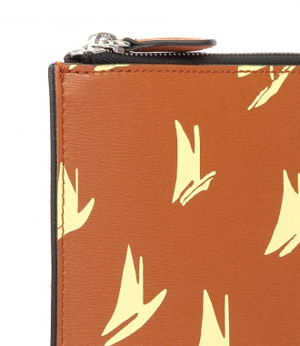 DOCUMENT CASE IN YELLOW LEATHER SAIL PRINT