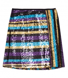 MINI MULTICOLORED PAILLETE SKIRT