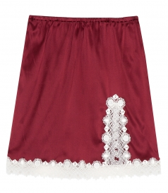 LACED SLIP MINI SKIRT