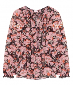 CLOTHES - FLORAL PRINT BLOUSE FT PUFFED LONG SLEEVES