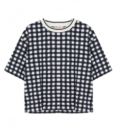 CHECKED PRINT T-SHIRT