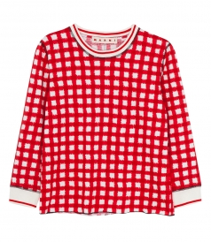 CASUAL CHECKED LONG SLEEVES T-SHIRT