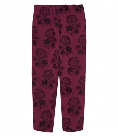 FLORAL PRINT HIGH RISE TROUSERS