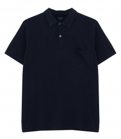 LINEN & COTTON JERSEY POLO SHIRT