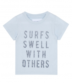CLOTHES - SURFS SWELL LOGO COTTON T-SHIRT
