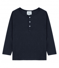 LIGHT COTTON LONG SLEEVE HENLEY SHIRT